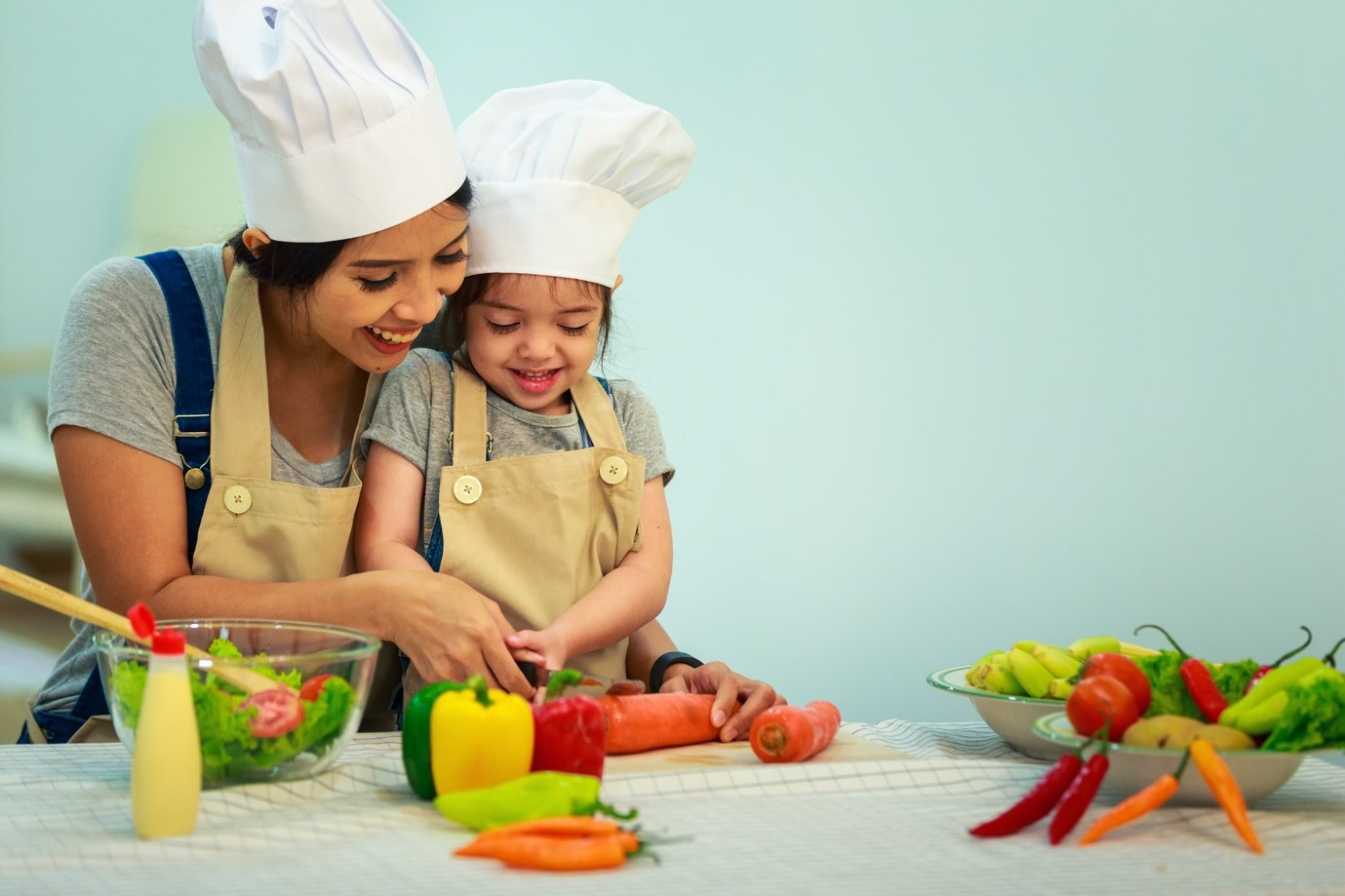 Cooking with your love ones