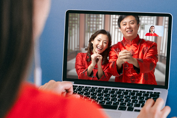 Reunion and Gathering via Video calls on Chinese New Year