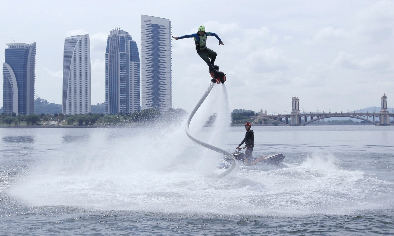 Flyboarding at Putrajaya